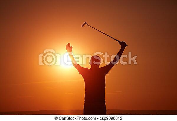 golfer - csp9098812