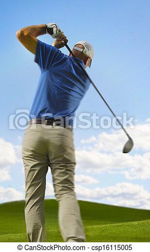 Golfer - csp16115005