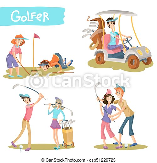 Golfers funny cartoon characters vector set. Set of and male ... on cartoon dog sled team, cartoon bowling team, cartoon swimming, cartoon walking team, cartoon lacrosse, cartoon hotel team, cartoon team of three, cartoon sports team, cartoon tennis team,