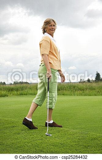 golfeur, dame - csp25284432