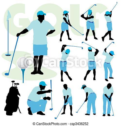 Golfing people - csp3436252