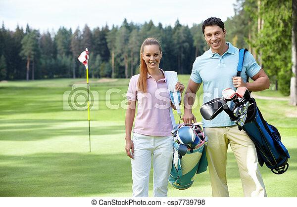 Golfing - csp7739798