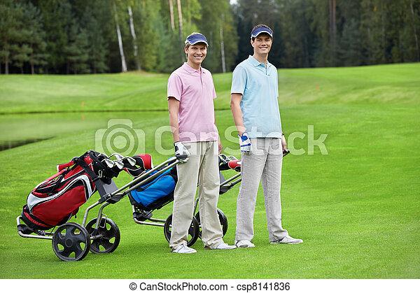 Golfing - csp8141836