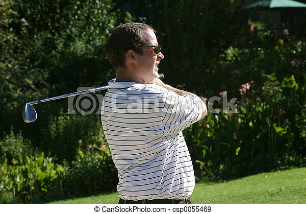 golfista, mirar fijamente - csp0055469