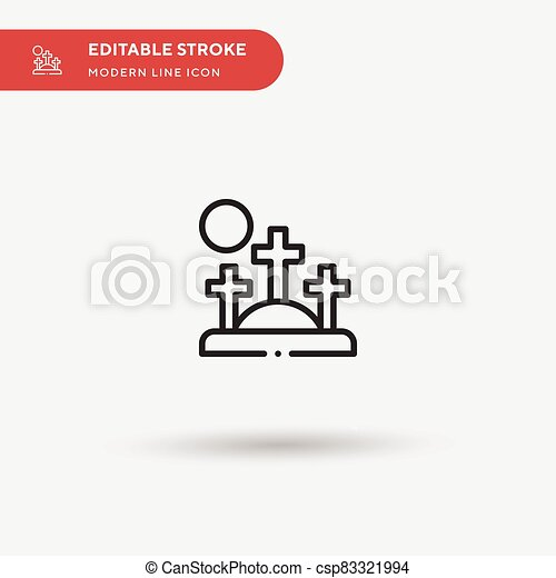 Golgotha Simple vector icon. Illustration symbol design template for web mobile UI element. Perfect color modern pictogram on editable stroke. Golgotha icons for your business project - csp83321994