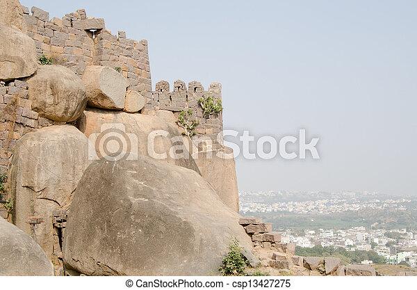 Golkonda Fort, Hyderabad - csp13427275