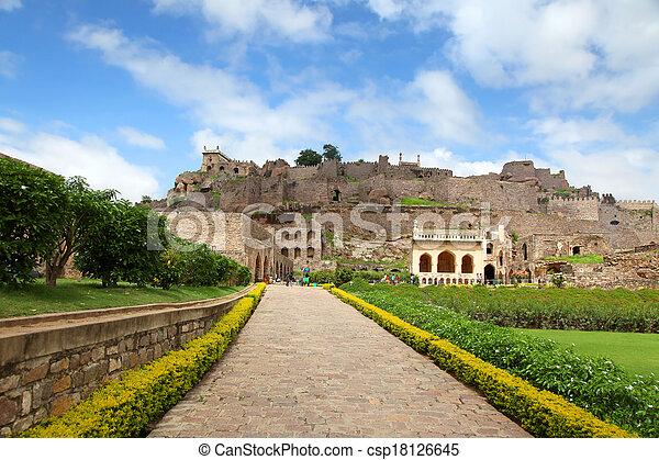 Golkonda fort, Hyderabad - csp18126645