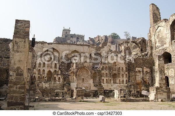 Golkonda Fort, Hyderabad - csp13427303