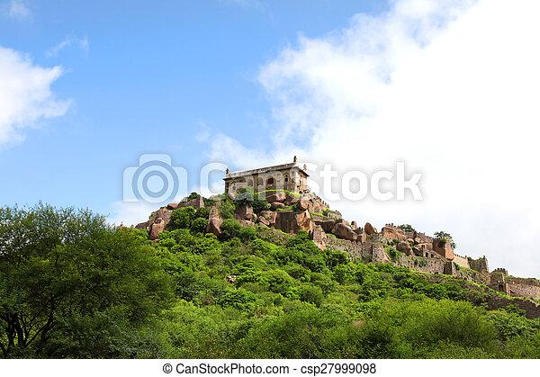 Golkonda fort landscape - csp27999098