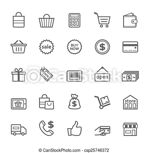 golpe, compras, contorno, icono - csp25746372