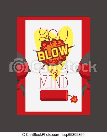 Bomba vector de explosión arma dinamita volar su mente pensando la destrucción boom ilustración cerebro explosivo fondo de fondo de fondo de pantalla de fondo - csp68308350