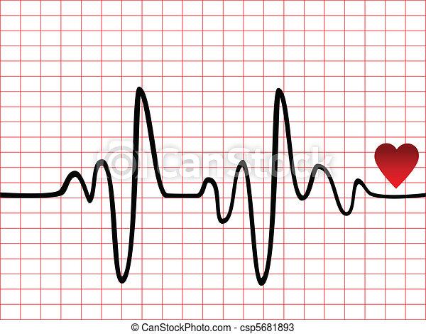 Control de ritmo cardíaco - csp5681893