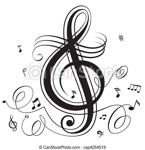 golpe, música - csp4254519