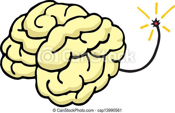 Cerebro a punto de explotar - csp13990561