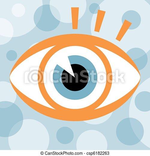 golpear, olho, design. - csp6182263