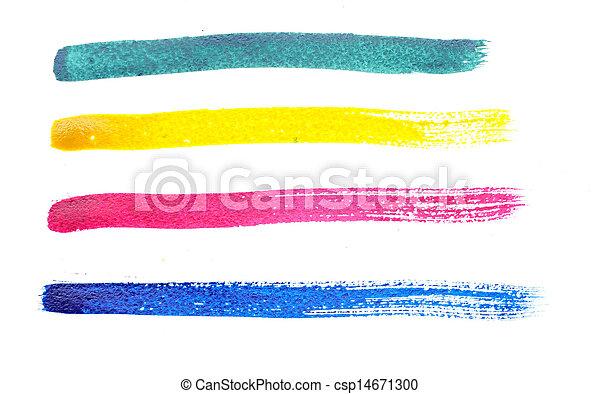 golpes, arco íris, diferente, escova, cobrança - csp14671300