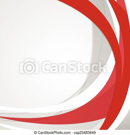 golvend, abstract, vector, rode achtergrond - csp23483649