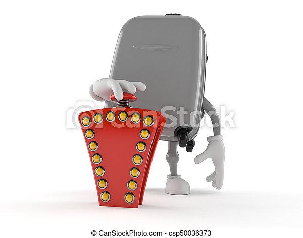 gombol, bőrönd, betű, vetélkedő - csp50036373