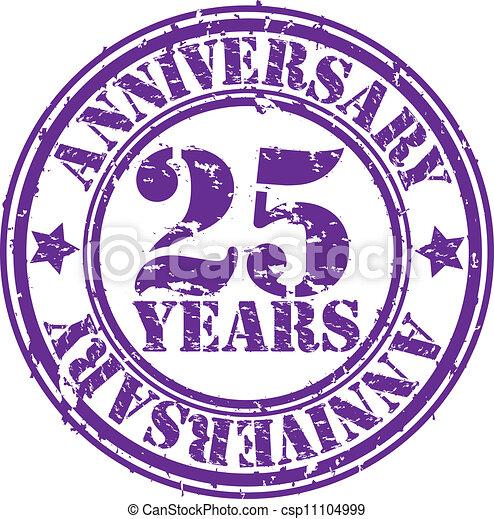 gomma, 25, grunge, anniversario, anni - csp11104999