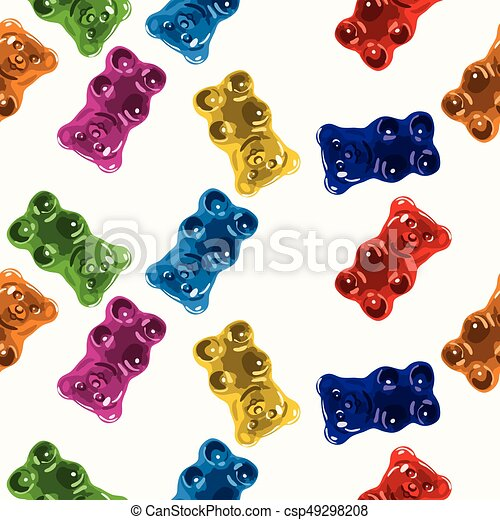 Un patrón de caramelos de gominola sin vector - csp49298208