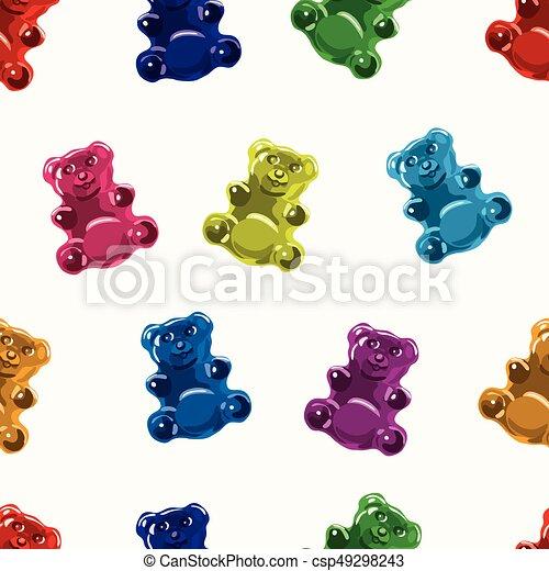 Un patrón de caramelos de gominola sin vector - csp49298243