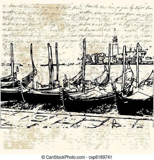 Gondola Grunge Background  - csp6189741