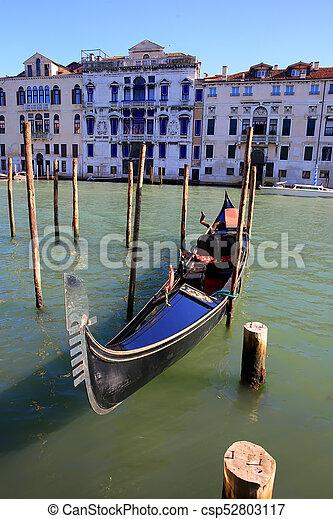 Gondola in Venice, Italy - csp52803117