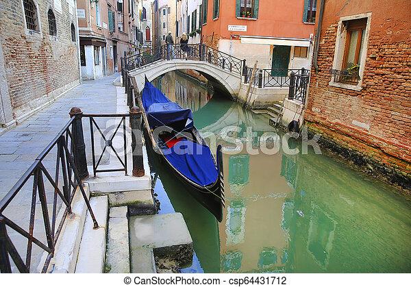 Gondola in Venice, Italy - csp64431712