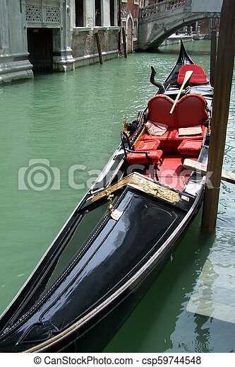 Gondola in Venice, Italy - csp59744548