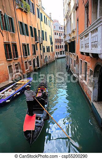 Gondola in Venice, Italy - csp55200290