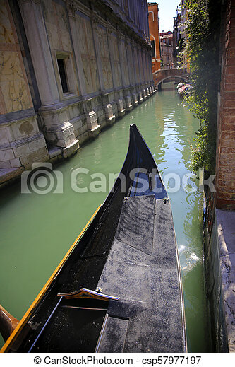 Gondola in Venice, Italy - csp57977197