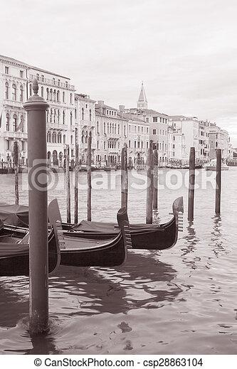 Gondola in Venice, Italy - csp28863104