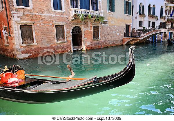 Gondola in Venice, Italy - csp51373009