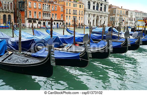 Gondola in Venice, Italy - csp51373102