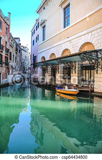 Gondola in Venice, Italy - csp64434800