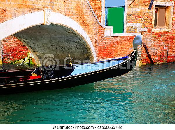 Gondola in Venice, Italy - csp50655732