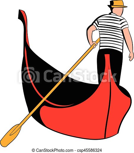 gondola with gondolier icon cartoon gondola with gondolier rh canstockphoto com italy gondola clipart gondola clipart free