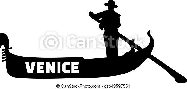 gondola with gondolier venice rh canstockphoto com ski gondola clipart free clipart gondola venice