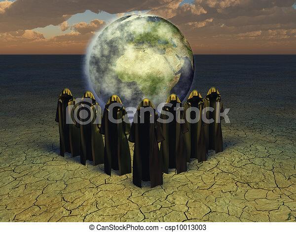 goochelaar, priesters - csp10013003