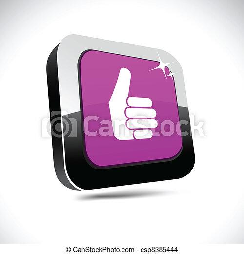 Good 3d square button. - csp8385444