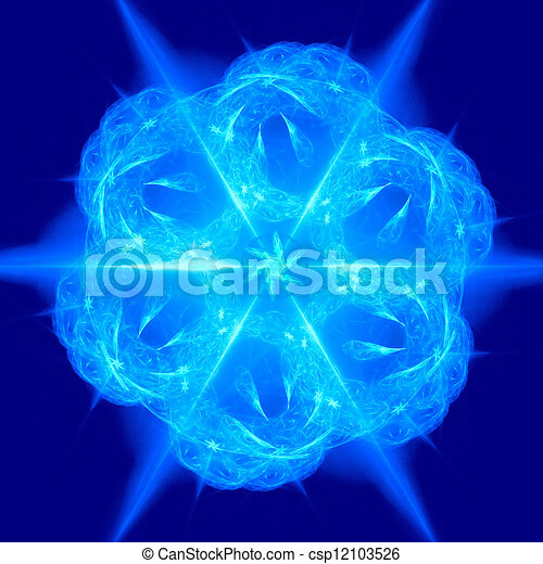 good abstract figure to background. fractal rendered - csp12103526