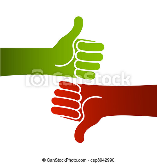 good bad thumbs up and down rh canstockphoto com Thumbs Up Thumbs Down Clip Art to the Side Thumbs thumbs up thumbs down clipart free