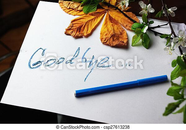 Good Bye Message - csp27613238