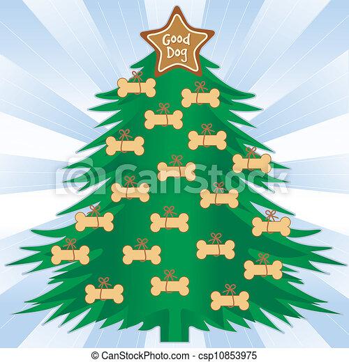 good dog christmas tree csp10853975