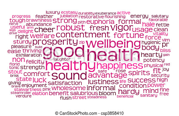 good health word or tag cloud - csp3858410