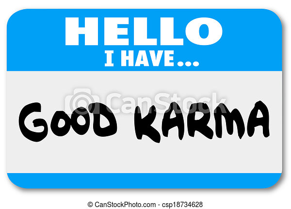 Good Karma Name Tag Sticker Luck Fate Meet Person Introduction Good