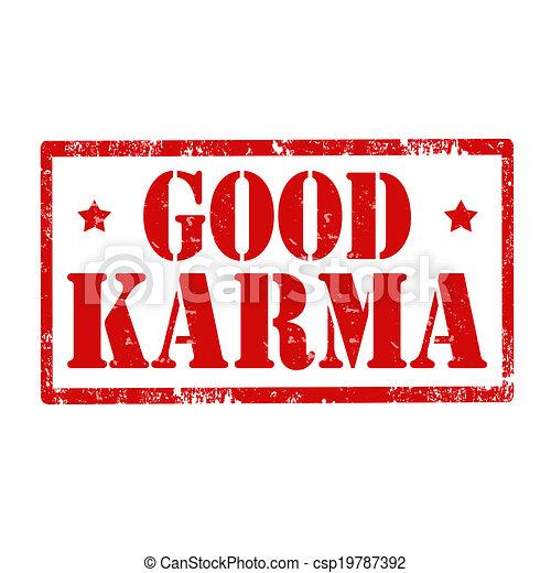 Good Karma-stamp - csp19787392
