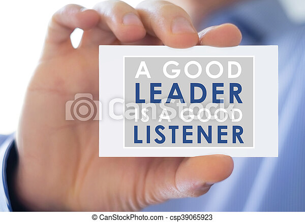 good leader and good listener