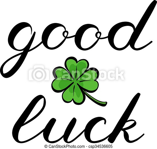 good luck brush lettering cute handwriting good luck brush rh canstockphoto com free good luck clipart images good luck image clipart