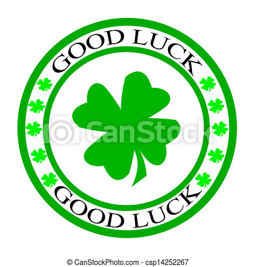 stamp with words good luck inside vector illustration clip art rh canstockphoto com good luck clipart gif good luck clipart free